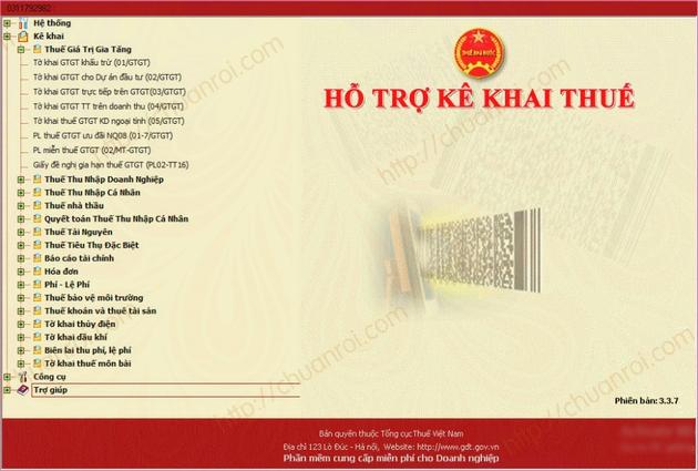 download htkk phan mem ho tro ke khai thue