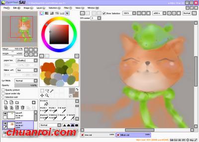 PaintTool SAI Full Crack 1 1 0, Vẽ chipi hiệu quả, cài đặt