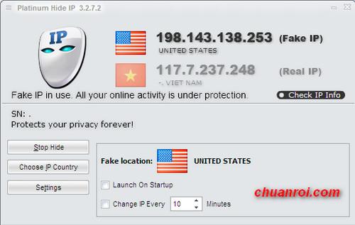 Introduce : Platinum HIDE IP v3.1.9.8 is the best tool for hide original I