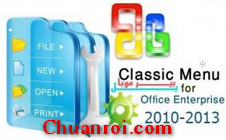 Classic Menu for Office Enterprise 2010 and 2013 v5.80 Full key